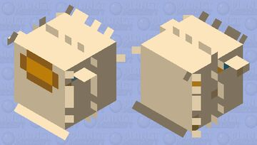 when the pufferfish is sus #Susserfish Minecraft Mob Skin