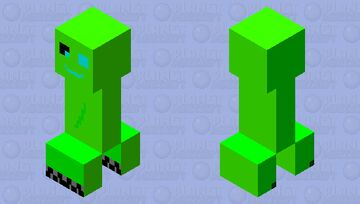 Awww Charged Creeper And Smile❤🧡💛💚💙💜🤎🖤🤍💕💗💓💖 Minecraft Mob Skin