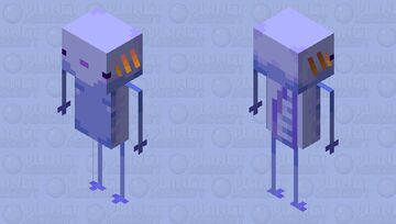 Oh my god! Is the rare... Blue Axotlin :0 Minecraft Mob Skin