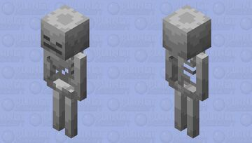 Skeleton but Shaded by Me Minecraft Mob Skin