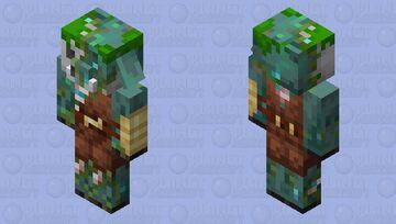Drowned Piglin Brute Minecraft Mob Skin