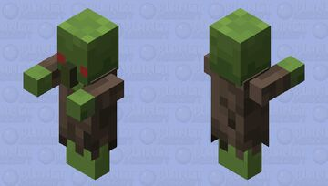 Simple Zombie Villager Minecraft Mob Skin