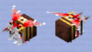 Infected Bee Minecraft Mob Skin