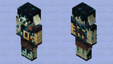 Piglin Brute Sculk Minecraft Mob Skin