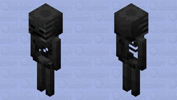 Wither Skeleton but Shaded by Me Minecraft Mob Skin