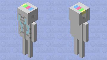 sad late newyear skeleton Minecraft Mob Skin