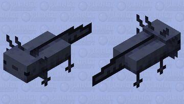 Black axolotl Minecraft Mob Skin