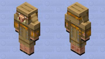Armored Piglin (Beehive Armor) Minecraft Mob Skin