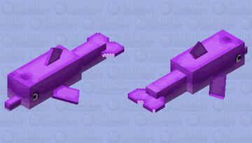 purple dolphin Minecraft Mob Skin