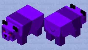 Aggressive Void Panda Minecraft Mob Skin
