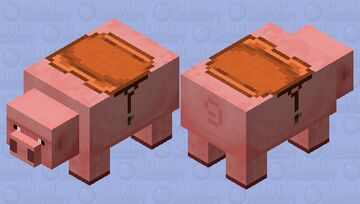 Big Pig / vanilla eyes / with mount / remade Minecraft Mob Skin