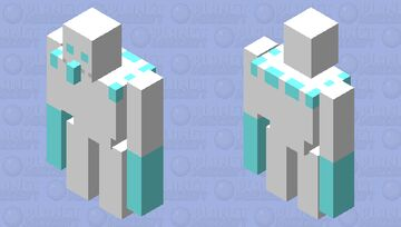 Ice Golem-Clash Royale Minecraft Mob Skin