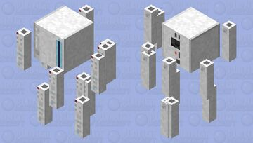 Nintendo Wii Blaze Minecraft Mob Skin