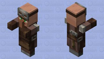 Villager Plains Armorer With Arms 1.14 Minecraft Mob Skin