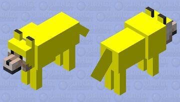 Yellow Wolf Minecraft Mob Skin
