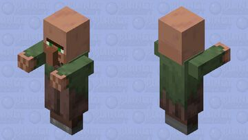 Villager Plains Nitwit With Arms 1.14 Minecraft Mob Skin