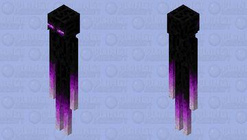 Glowing Enderman (textured) Minecraft Mob Skin