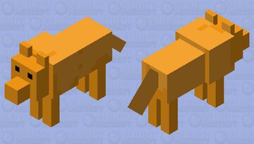 The orange wolf Minecraft Mob Skin