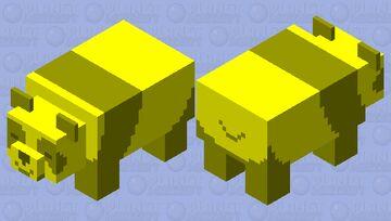 Lazy Golden Panda Minecraft Mob Skin