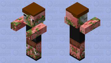 Millitary Zombie Pigman Minecraft Mob Skin