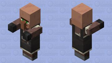 Villager Plains Stonemason With Arms 1.14 Minecraft Mob Skin