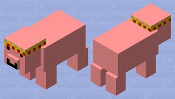pig with crown Minecraft Mob Skin
