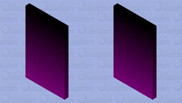Black-Purple Cape Minecraft Mob Skin
