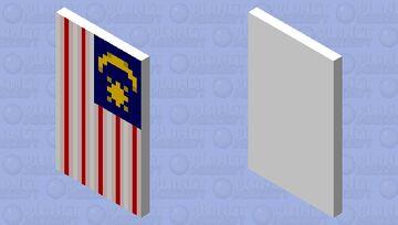 Malaysia Flag cape Minecraft Mob Skin