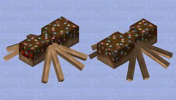 Chocolate Spider Minecraft Mob Skin