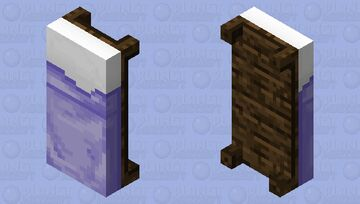Pastel Purple Bed (Dark Oak) Minecraft Mob Skin