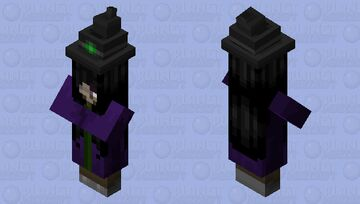 Enchantingly Beautiful Witch Skin Minecraft Mob Skin
