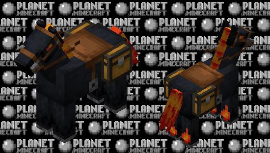 Fantasy Fire Horses Minecraft Skin