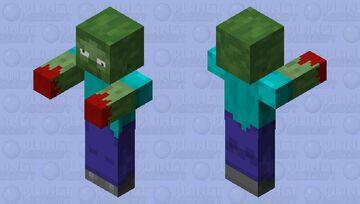 Crazy zombie Minecraft Mob Skin