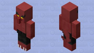 Nillager / Based / (variant of the vindicator and villager of the nether) Minecraft Mob Skin