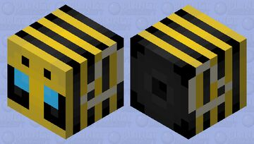 Don't worry I won't attack you. I'm just a harmless bee, totally not a giant slime waiting to kill you... Minecraft Mob Skin