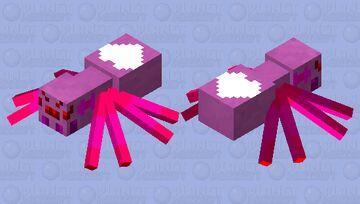 Cute pink spider Minecraft Mob Skin