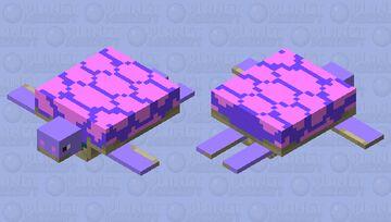 Cute Valentines Turtle Minecraft Mob Skin
