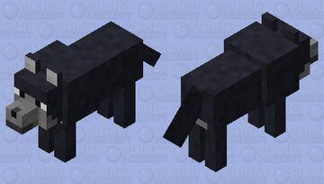 Common Wolf (Black/Dark Grey Variant) Minecraft Mob Skin
