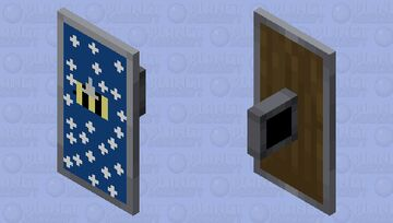 Bee in the night on shield Minecraft Mob Skin