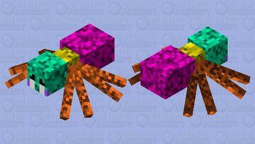 Neon Spider Minecraft Mob Skin