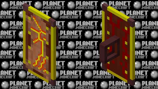 Ancient Nether Tribal Shield Minecraft Skin