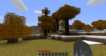 Beta 1.7.3 Birch & Spruce Leaves Colors Remover Minecraft Mod