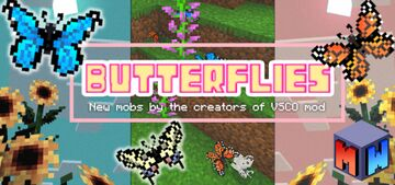 Butterfly Add-On (Bedrock) Minecraft Mod