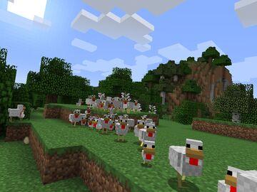 Aggressive Chickens for MC 1.8.* Minecraft Mod