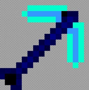 The Blue Pickaxe Minecraft Mod