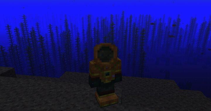 Scuba Gear - A player standing in scuba gear.