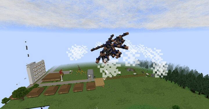 villager attack helicopter