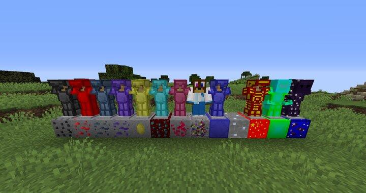 The Twelve New Ores, And Their Corresponding Armour Set