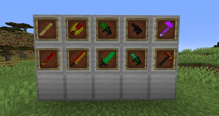 10 Random Weapons, From New Bows To Hoes That Turn Any Entity Into A Bat