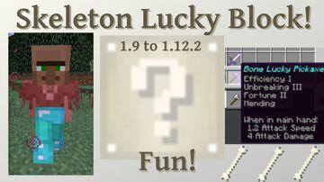 Skeleton Lucky Block Addon Minecraft Mod